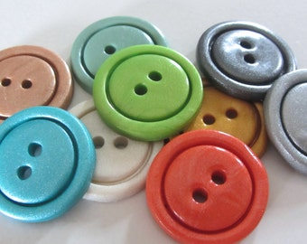 """Any Color Simple Buttons - Set of 5 - 1"""" Buttons"""