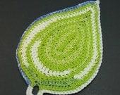 Crochet Pattern - Zen Leaf Potholder - Easy to make, great housewarming gift - PDF file - (DAYSTAR) Katherine Kowalski