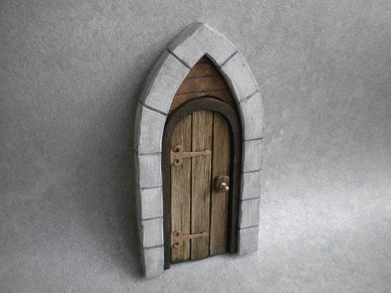 Fairy door tudor medieval cottage by firecraftminiatures for Wooden fairy doors that open