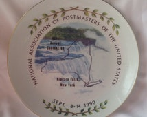 Vintage National Association of Postmasters Of The United States Niagara Falls, New Your Plate 1990