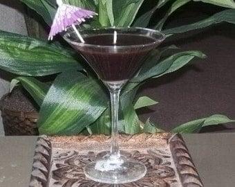Martini Glass Candle in Chocolate Espresso