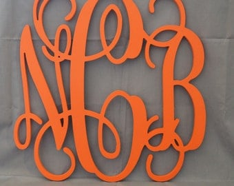 24 inch PAINTED Wooden Monogram Letters, wood monogram, guest book