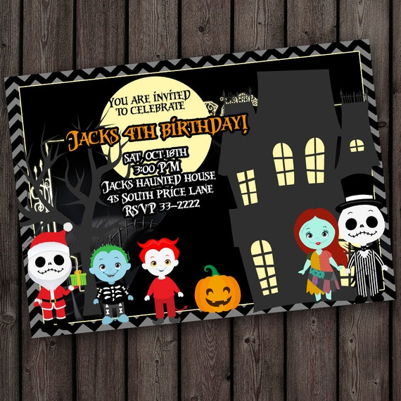 Nightmare Before Christmas Birthday Party: Nightmare Before Christmas Invitation Birthday Or Halloween