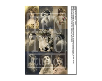 Charlie's Femme Fatales Digital Collage Sheet
