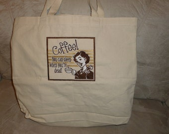 Embroidered Coffee Tote