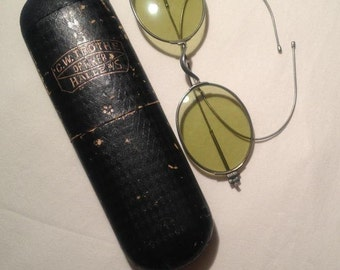 Antique Sunglasses by C.W. Trothe with Case - EB201