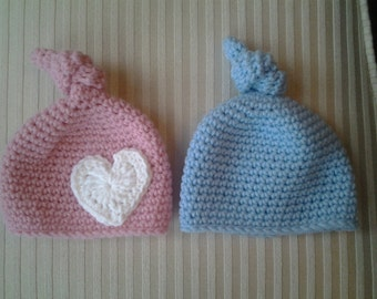 Top Knot Hat for Newborns