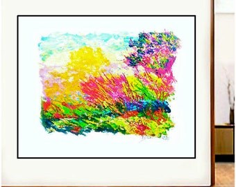 """19"""" X 24""""ORIGINAL  Impressionist  LANDSCAPE  Hand Signed and Numbered Art from Nature"""
