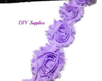 Lavender - Shabby flower trim - Shabby flowers