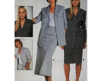 Burda Sewing Pattern 8801 - Jacket, Skirt  Size:  12-24  Uncut
