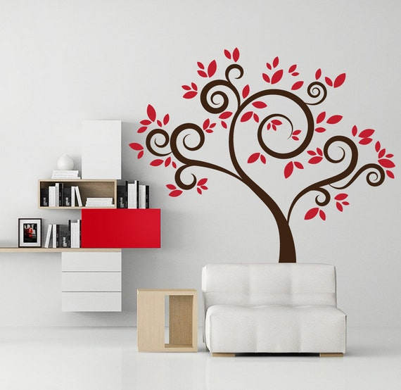 Red wall decals