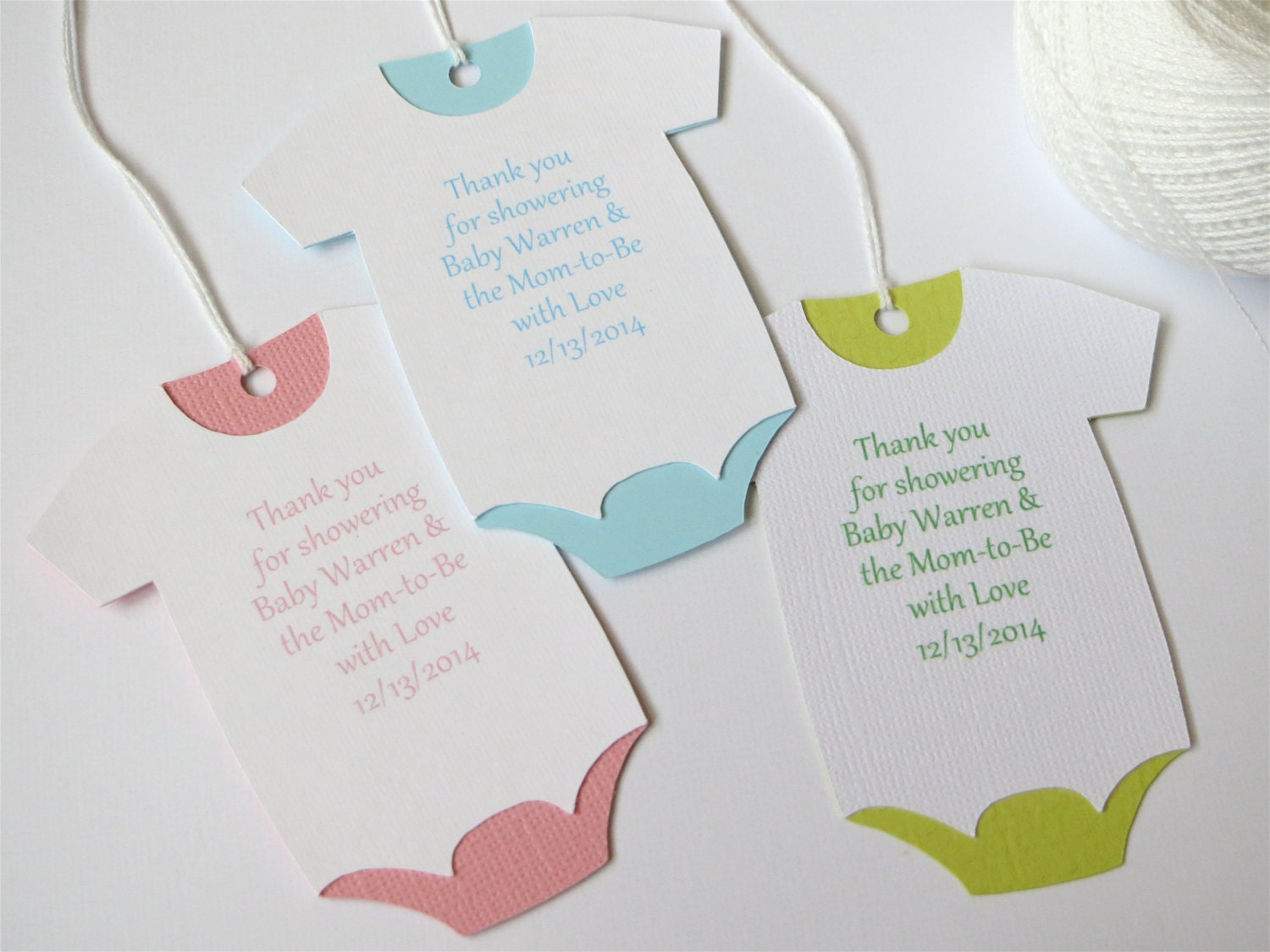 large baby shower thank you tags custom baby shower favor