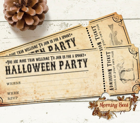 items similar to halloween party invitations  x  inch size, party invitations