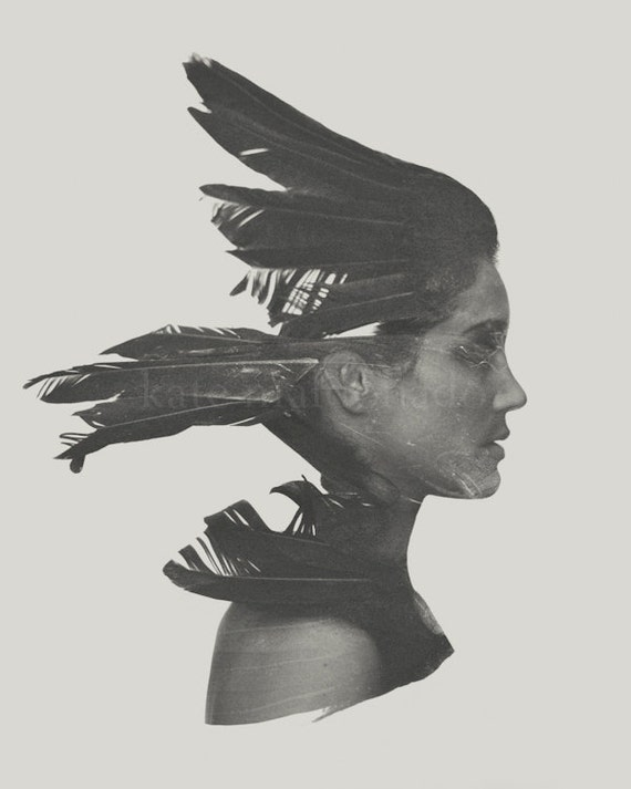 Articles Similaires Sauvage Surr Aliste Fine Art Photography Oiseau Corbeau Corbeau Plume
