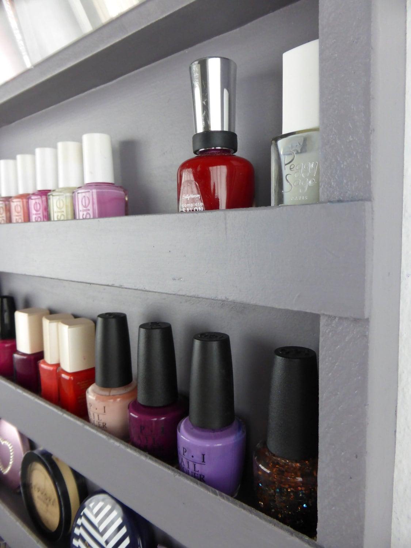Rack de vernis ongles organisateur rangement de salle de - Rangement vernis a ongles mural ...