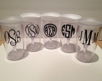 Personalized To Go Wine Glasses