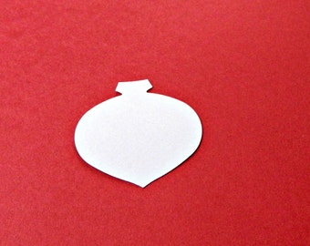 Ornament Die Cut paper cardstock embellishment medium hand punched holiday accent 1.75 inch 45mm wide & tall choose count / color DIY supply