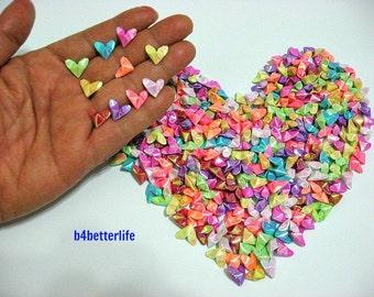 365pcs 1/2 Inch Tiny 3D Origami Hearts LOVE. (AV paper series).