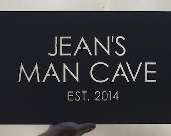 Custom Steel Man Cave Sign
