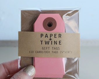 10 Pastel Pink Gift Tags