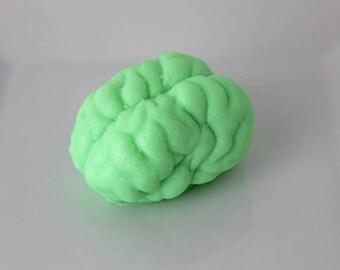 Brain Soap - Zombie Brain Soap - Halloween Soap - Green Apple Candy Scented - Glow in the Dark Soap - Goat's Milk Soap - Novelty Soap - New