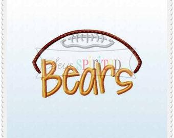 4x4 Bears Football Embroidery Design