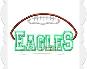 Eagles Football Applique Embroidery Design