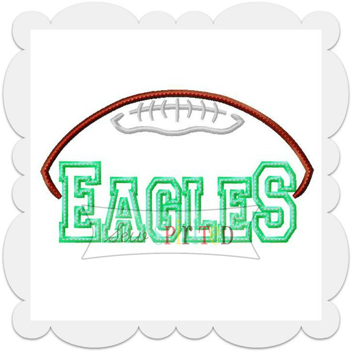 philadelphia eagles machine embroidery design