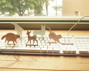 Animal Keyboard Memopad / 35 sheets / Notepad / Memopad / 10659275