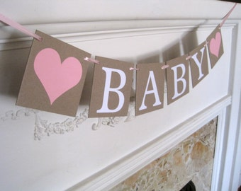 Baby Banner, its a girl banner, baby shower banner, girl baby shower decoration, girl baby shower, baby girl banner, baby shower decorations
