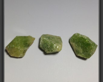 Rough natural SPHENE stones from Tanzania 24.3g - 3 stones