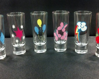 My Little Pony Cutie Marks Shot Glasses