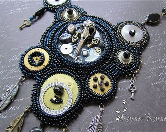 Clockwork Bird Chronicles - beaded necklace