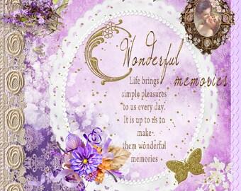 Wonderful Memories Scrapbook/Journal Cover.