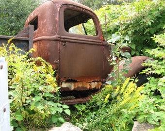 Art Photography, Landscape Art, Rusty Truck, Instant Download, Old Truck,  Photo Art, Digital Art, Portrait of Rusty Truck, Quality Print
