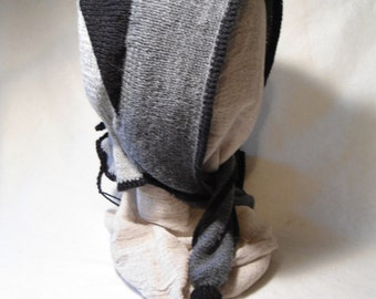 Wool Hand-knitted Lady's Hood or Scarf for Civil War Reenactors