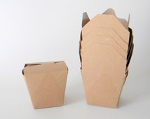 150 Mini 8 oz. 1/2 Pint Kraft Brown Chinese Take Out Boxes, Food Safe, Wedding Favor, Gift Wrapping, Eco Friendly,  Microwaveable,