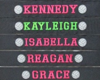 Team Headbands - Set of 10 custom embroidered headbands - each with unique personalization