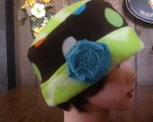 Pill Box Cloche Soft Chemo Fleece Hat