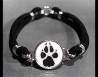 DOG PAW Print Dime Stretch Bracelet - One size fits most - Made In USA