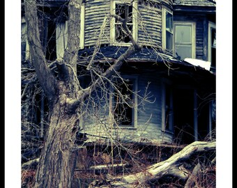 Fine Art Photography, Haunted House, Scary, Halloween Decor, Mysteries of the World Series