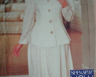 Misses Top and Skirt Size 6-8-10 See and Sew by Butterick Pattern 3408 Rated Very EASY to Sew - UNCUT Pattern