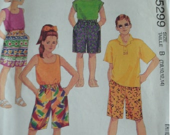 Boys and Girls Shorts Sizes 7-8-10-12-14 EASY McCalls Pattern 5299 Fast and Very Easy to Sew  UNCUT Pattern 1991