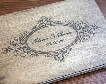 Wedding Guest book, Rustic Wedding Guestbook, Guest Book Personalized, Customized, Wedding Date and names