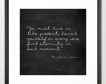 Literary Print - Henry David Thoreau - Inspirational - Gift Ideas for Men - Gift Ideas for Women - Wall Art Prints - Literary Quote Print