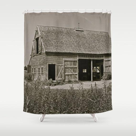 Farmhouse Shower Curtain Country Home Decor Barn Shower