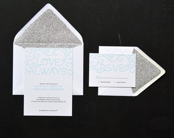 Love Always - Letterpress Wedding Invitation