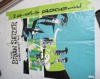brian setzer giant concert poster