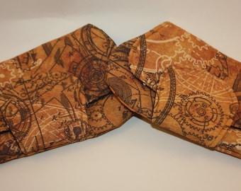 Steampunk Clockwork Pocket Clutch Bag