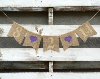 Save the Date Burlap Banner, Engagement Banner, Photo Prop, Burlap Wedding Banner, Pregnancy Annoucement